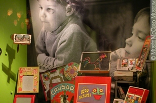 Photograph of the exhibition: Growing Up in Montréal; The Home: A Schoolchild's Perspective